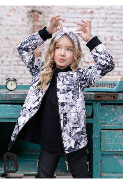 Dívčí mikina Fashion bílo-černá