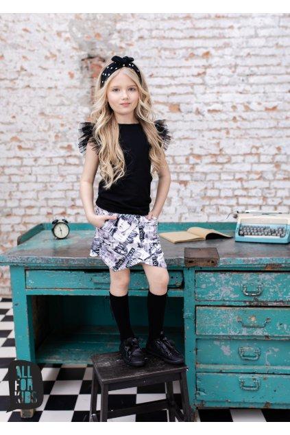 Dívčí sukně Fashion bílo-černá