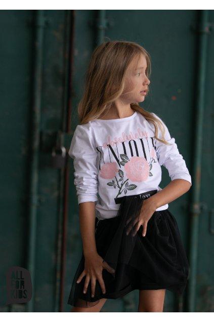 Dívčí tričko Rose s dlouhým rukávem
