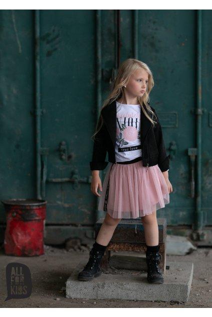 Dívčí tylová sukně Unique růžová