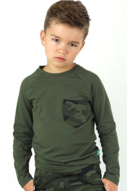Chlapecké tričko khaki