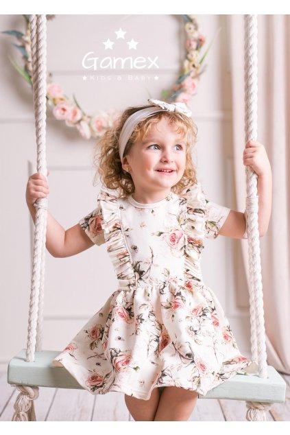 Dětské šaty s květinovým vzorem