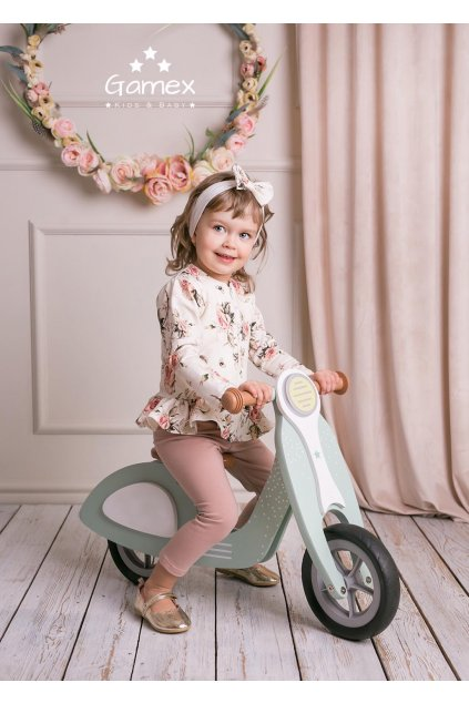 Dětská mikina a legíny s květinovým vzorem
