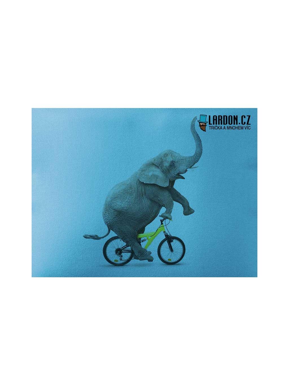 slon na kole motiv tričko náhled