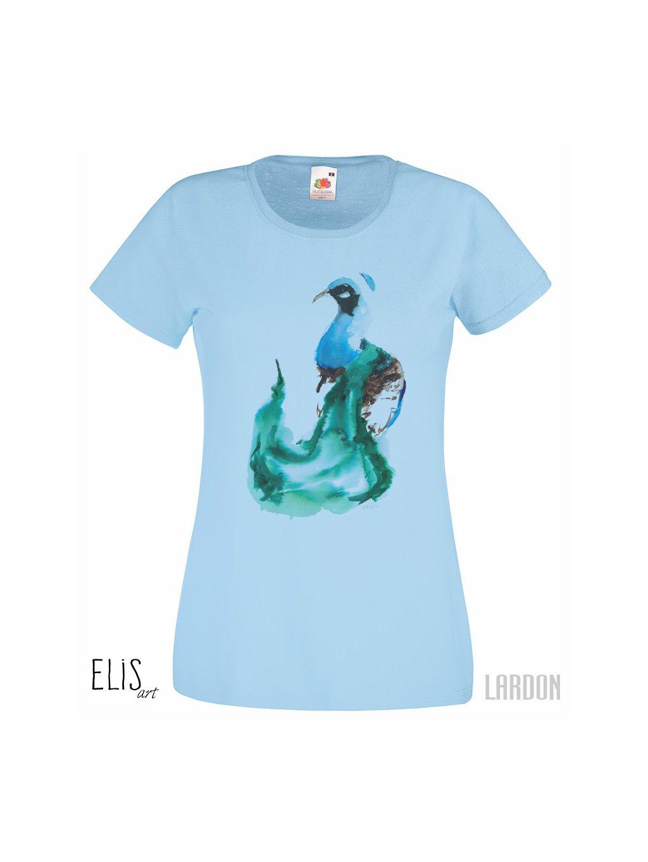 Dámské tričko Páv