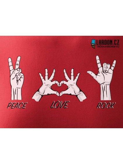peace love rock motiv tričko náhled