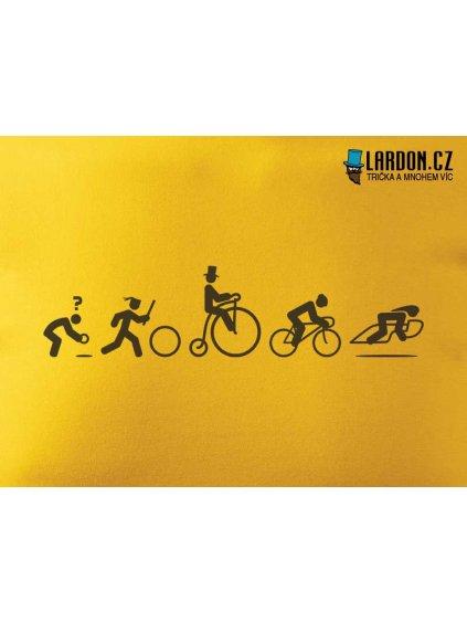 bike evoluce motiv tričko náhled