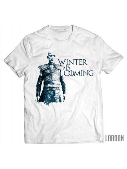 winter is coming bílé game of hrones night king pánské