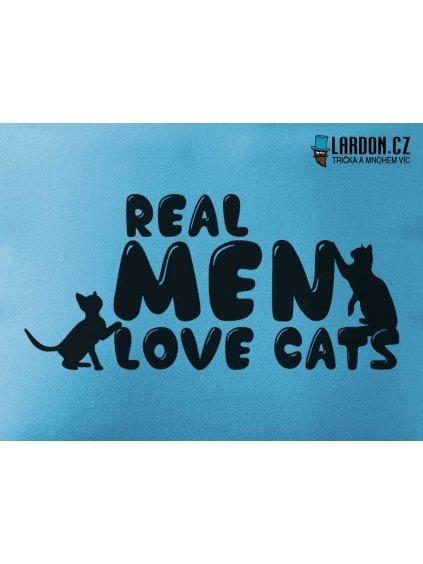 real men love cats motiv tričko náhled