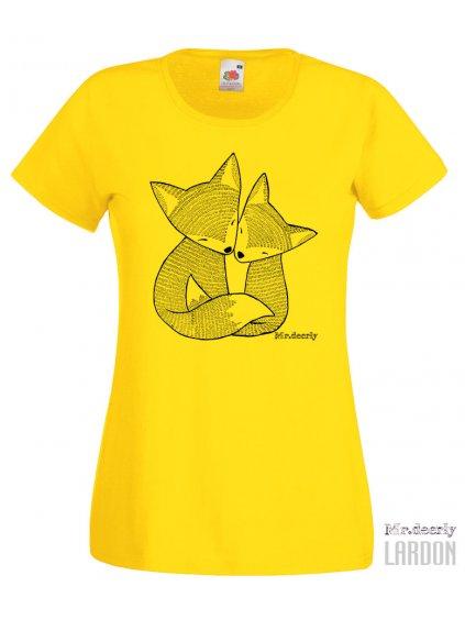 Dámské tričko Lištičky