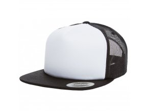 flexfit truckerka BLACK WHITE BLACK