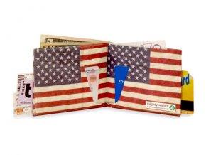 Papírová peněženka - Stars and Stripes