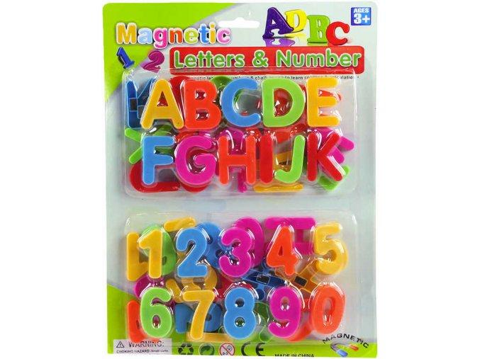 Magnetická písmena a číslice, magnetky, abeceda