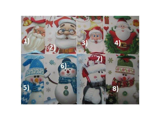 Vánoční dárková taška - Santa, sněhulák