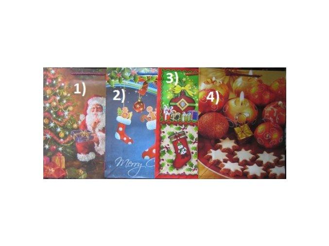 Vánoční dárková taška - velká
