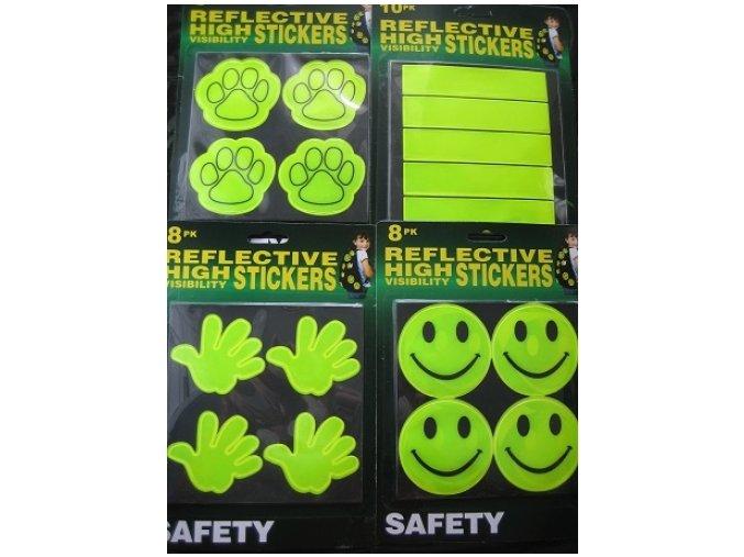 Reflexní bezpečnostní nálepky - fosforové