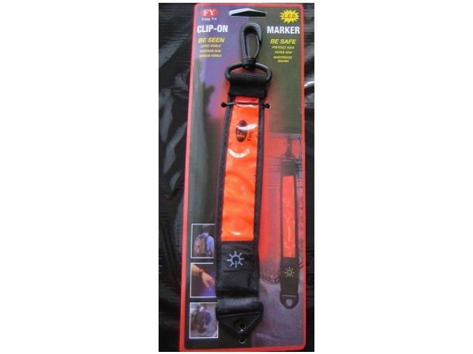 Reflexní bezpečnostní pásek, oranžový, zelený