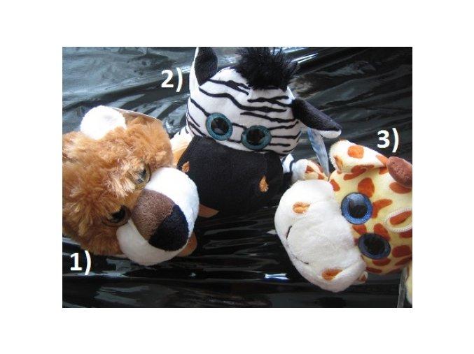 Plyšová zvířátka - lev, zebra, žirafa