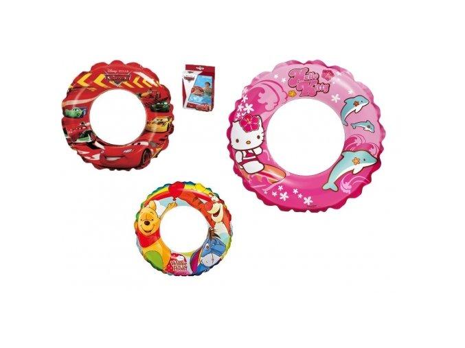 Nafukovací kruh do vody - Cars, Hello Kitty, Pú