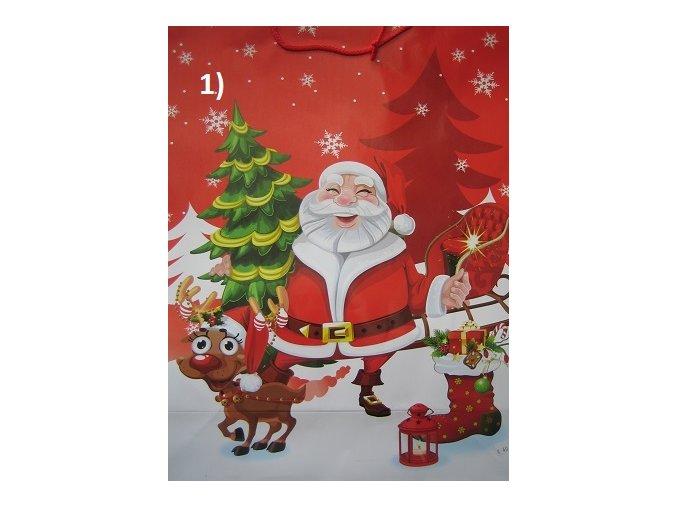 Velká vánoční dárková taška - různé motivy