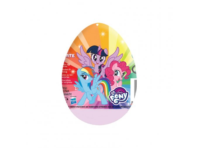 cokoladove vajicko s prekvapenim my little pony chocolate egg 20g
