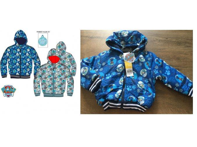 Bunda PAW PATROL podzim/zima chlapecká, vel. 98, 104, 110cm, modrá