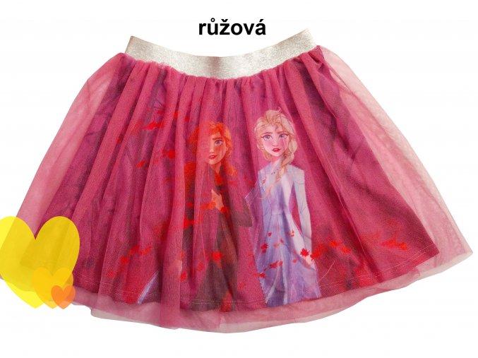 Sukně FROZEN s tyl vrstvou, růžová, vel. 98-110cm