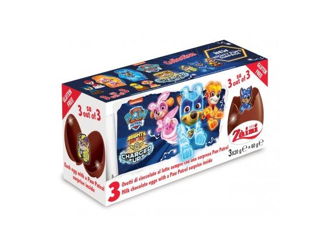paw patrol chocolate egg 3x20g