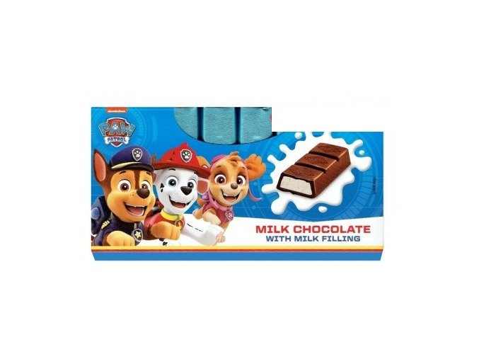 paw patrol milk chocolate 100g
