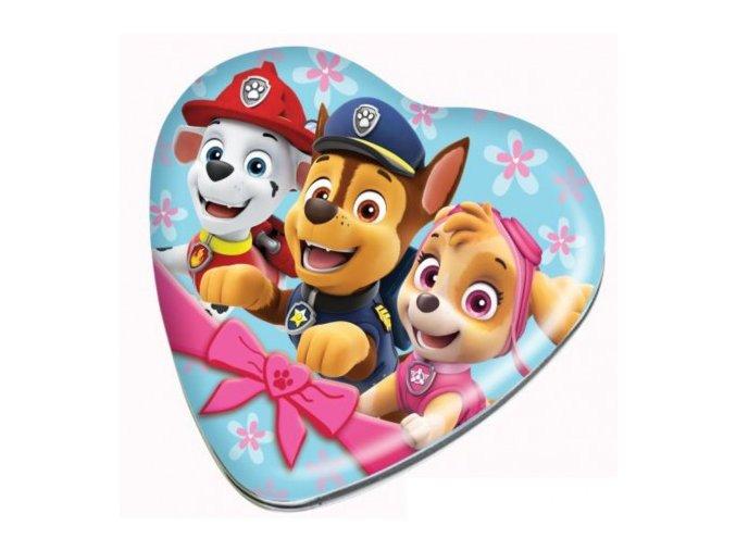paw patrol heart tin jelly