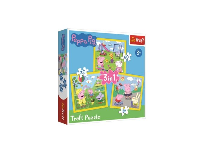 puzzle prasatko peppa 3v1 203650 dilku 95569