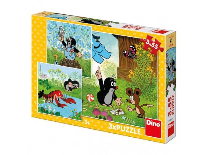 krtek a kalhotky puzzle 3x55 dilku