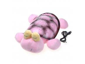 Magická svítící a hrající ŽELVA, ŠNEK růžový + USB KABEL