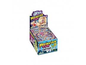 Žvýkačky Monsters s tetovačkou, 200ks