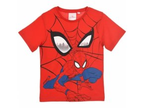 spiderman tricko cervene