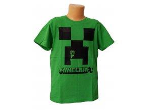 Tričko MINECRAFT zelené, vel. 128, 140cm