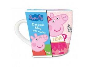 peppa pig ceramic mug with praline