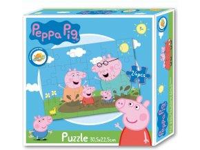 Puzzle PEPPA PIG v blátě 24dílků