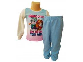 Zimní dívčí flísové pyžamo Tlapková Patrola, vel. 104-128cm