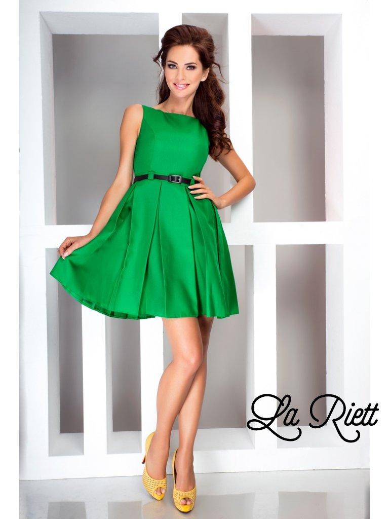 Dress with contrafold - Green 6-12 (Veľkosť S)