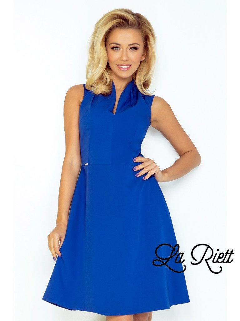 Šaty so stojačikom modré 133-1