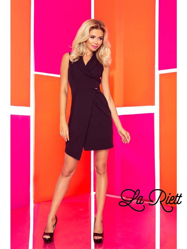 Dress with neckline - black 153-4
