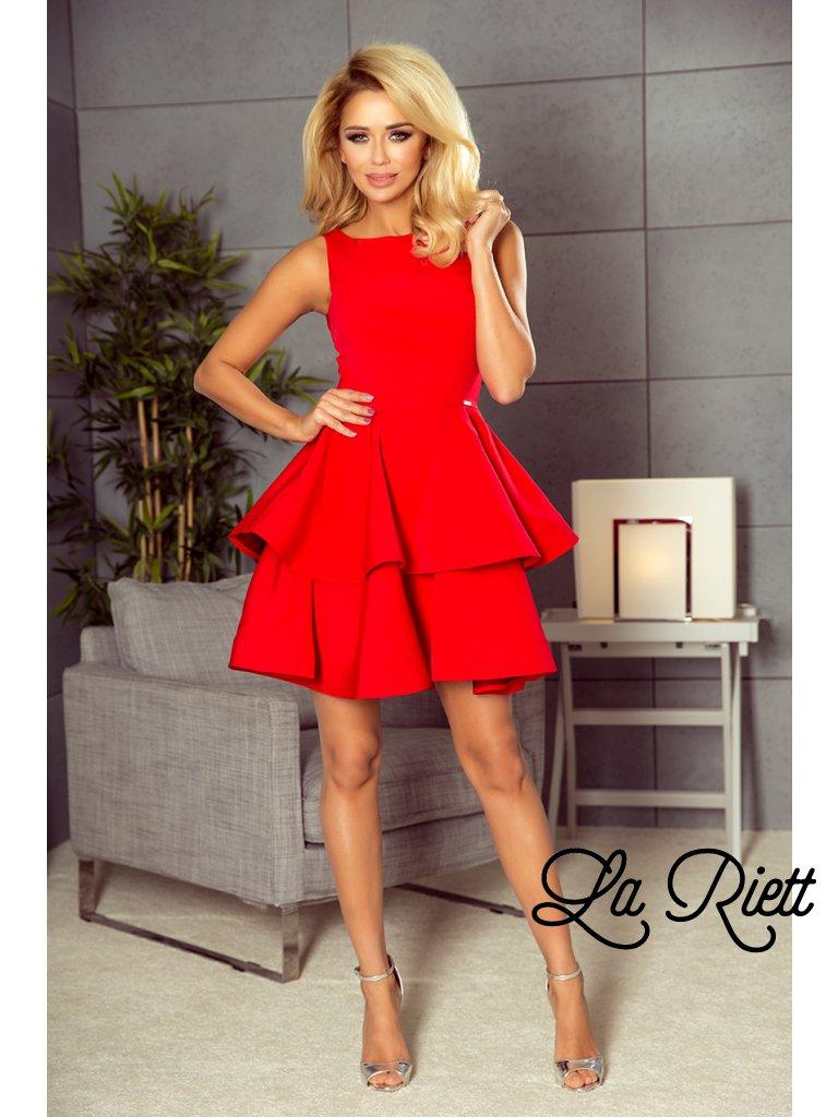 Elegantné šaty červené 169-1
