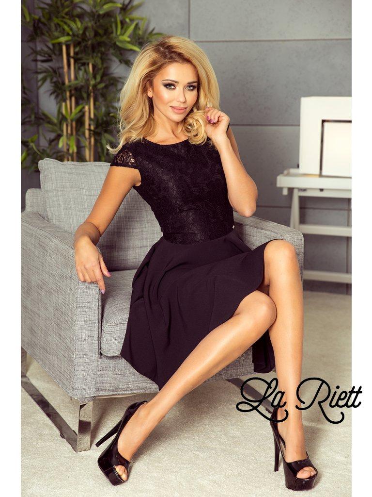 Šaty s krajkou čierne 157-2