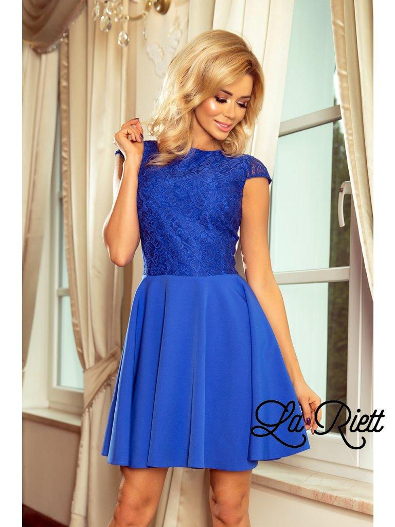 Šaty s krajkou blue 157-5