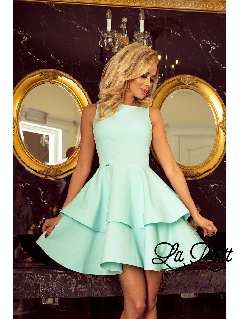 Elegantné šaty mäta 169-4