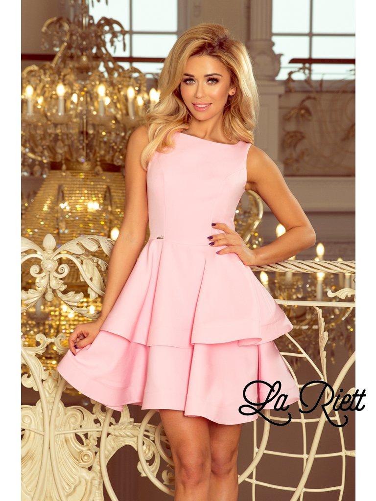 Elegantné šaty pastelovo ružová 169-5