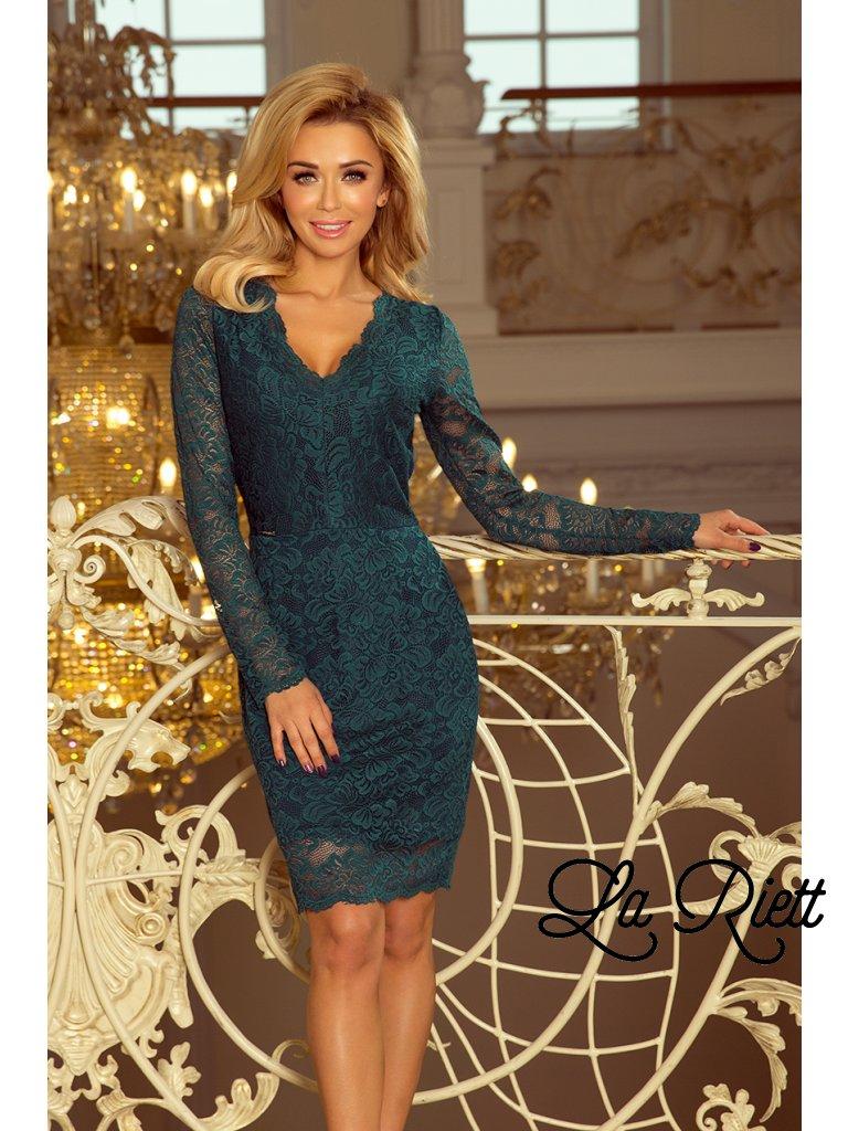 Zelené čipkované šaty 170-3