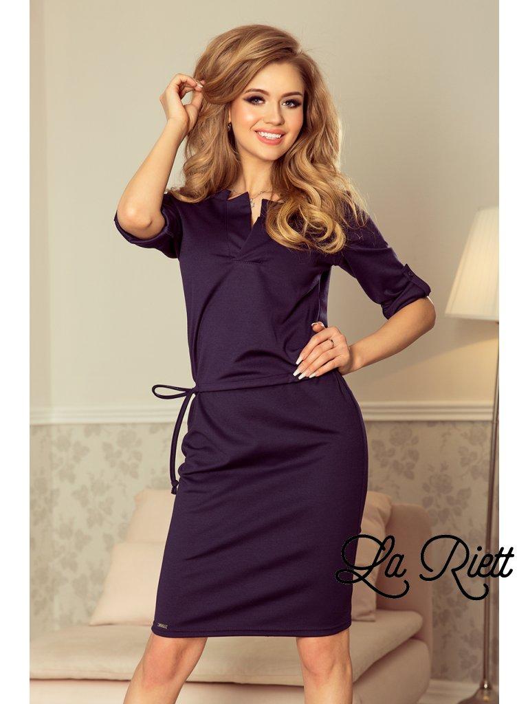 Elegantné šaty tmavomodré 161-7