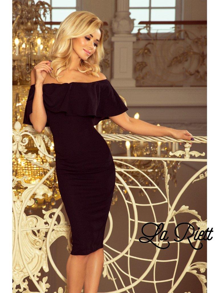 Čierne šaty s volánom 138-7